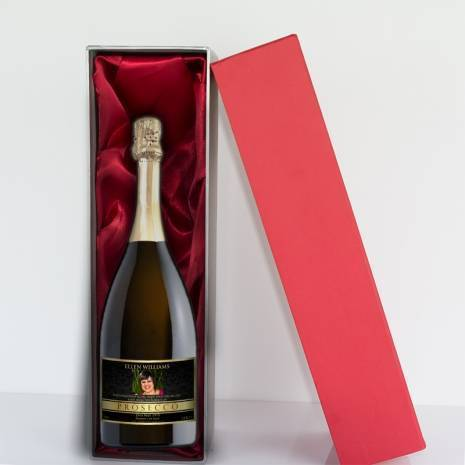 Personalised Prosecco - Gold Black Photo Label for any occasion