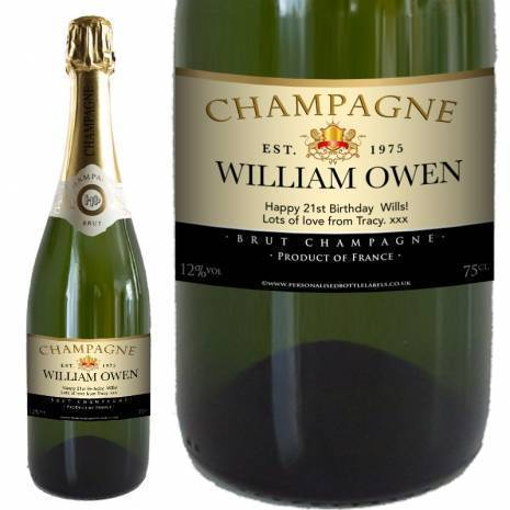 Personalised FREE Next Day Delivery Authentic Champagne for Any Occasion