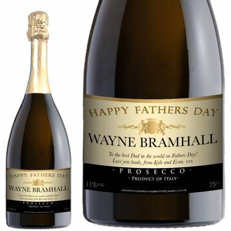 Personalised Fathers Day Prosecco