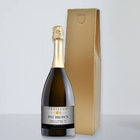 Personalised Prosecco Traditional Grey