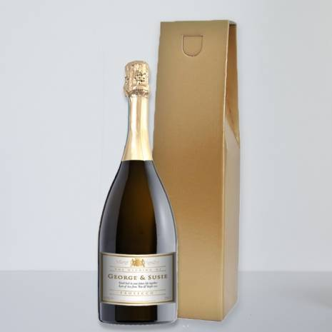 Personalised Wedding Prosecco - Traditional White