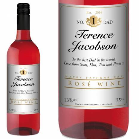 Personalised Fathers Day Rosé Wine