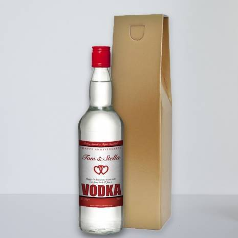 Personalised Anniversary Vodka