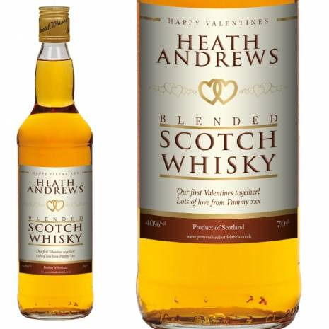Personalised Valentines Blended Scotch Whisky