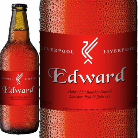 Personalised Liverpool Beer Gift For Any Occasion