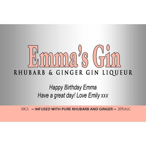 Personalised Rhubarb Gin for Any Occasion