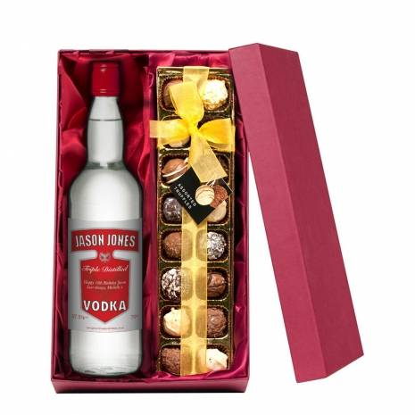 Personalised Vodka with Hand Made Truffles
