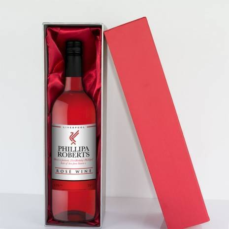 Personalised Liverpool Rosé Wine Gift - Any Occasion